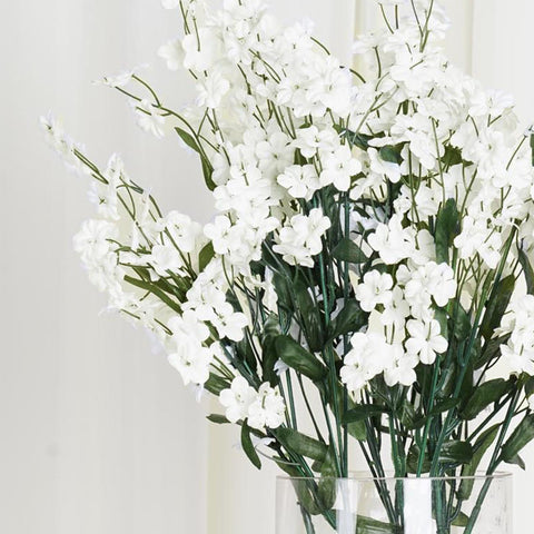 12 Bushes Ivory Artificial Silk Wholesale Baby Breath