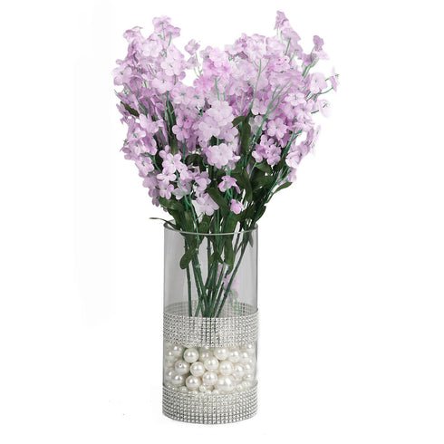 12 Bushes Lavender Artificial Silk Baby Breath Flowers