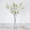"4 Bushes | 40"" Tall White Silk Artificial Flowers Faux Cherry Blossoms Branches"