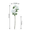 Pack of 2 | 30 inch White Long Stem Silk Dahlias, Artificial Flowers