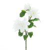 Pack of 2 | 30 inch White Long Stem Silk Dahlias, Artificial Flowers#whtbkgd