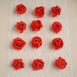 "12 pcs 2"" Red Real Touch 3D Artificial DIY Foam Rose Flower Head"