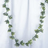 2 Pack | 11 FT Light & Dark Green Artificial Boxwood Leaf Garland