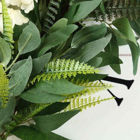 4 FT | Real Touch Willow & Frond Leaves Green Artificial Garland