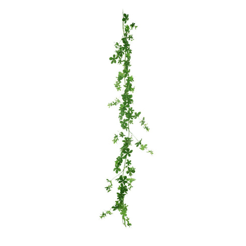 6 FT Green Real Touch Artificial Young Clover Leaf Garland