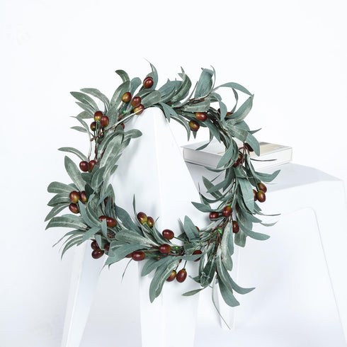 Faux Olive Branch, Artificial Greenery Garland