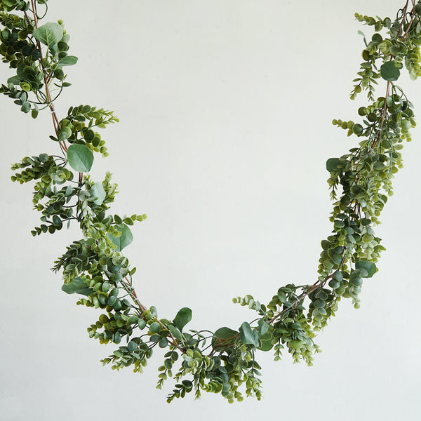 Real Touch Eucalyptus Amp Boxwood Leaves Green Artificial