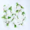 2 Pack | 7 Ft Cream Artificial Cherry Blossom Silk Flower Garland, UV Protected Waterproof Hanging Vines