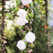 6 ft | White | Silk Peony Garland | Bendable Wire Vines | Artificial Flower Garlands with Leaves