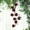 6 FT Burgundy UV Protected Silk Rose Garland - Artificial Wedding Garland - 14 Flowers