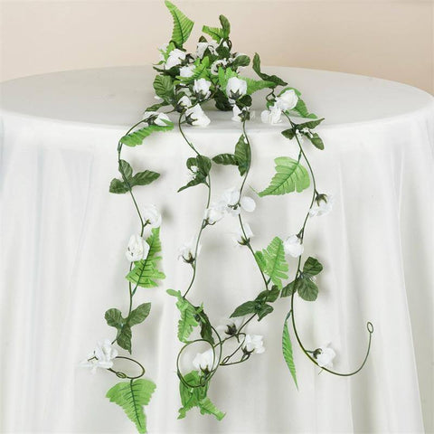 Rose Garland-Cream-8pk