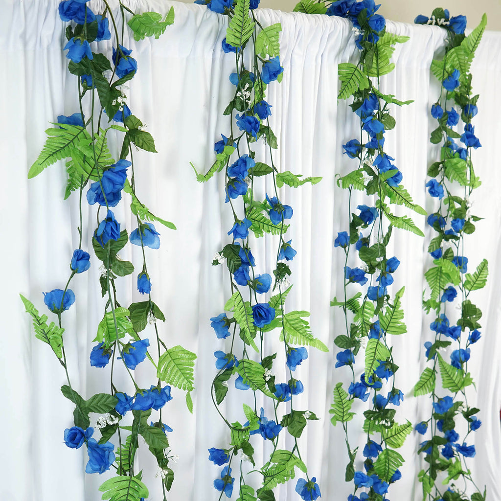 Rose Garland-Royal-8pk