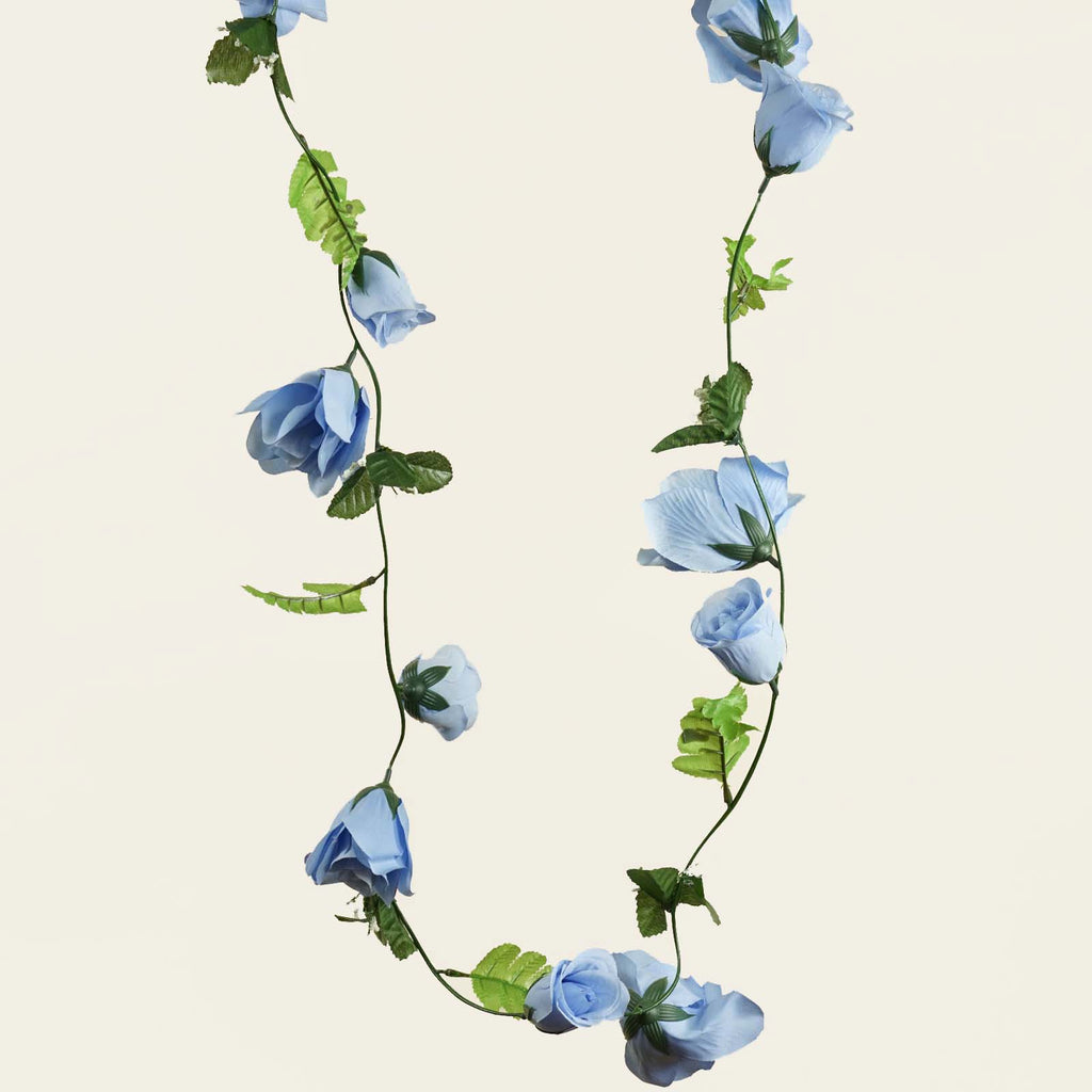 4 x Supersized Rose Garland-Light Blue
