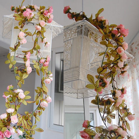 6FT Supersized UV Protected Rose Garland - Chocolate - 4pcs