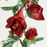 4 x Supersized Rose Garland-Red