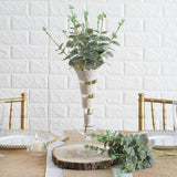 2 Bushes | 19'' Tall Frosted Green Artificial Eucalyptus Sprays
