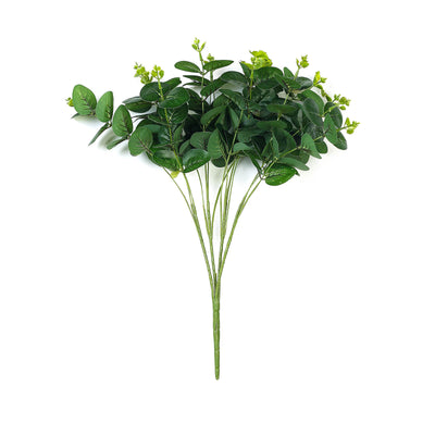 2 Bushes | 18'' Tall Dark Green Artificial Eucalyptus Sprays