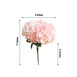 5 Bushes | 25 Heads Blush Pink Silk Hydrangea Artificial Flower Bushes