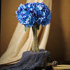5 Bushes | 25 Heads Royal Blue Silk Hydrangea Artificial Flower Bushes