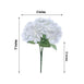 5 Bushes | 25 Heads White Silk Hydrangea Artificial Flower Bushes