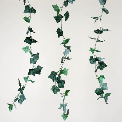8 Pack 48 FT Green UV Protected Artificial Ivy Leaf Garland