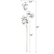 "2 Pack | 32"" Metallic  Silver Artificial Eucalyptus Spray Display Filler Floral Decoration"