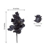 12 Bush Black 180 Rose Buds With Baby Breath Real Touch Artificial Silk Flowers