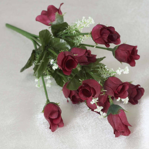 Mini Rose Buds-Burgundy-180/pk