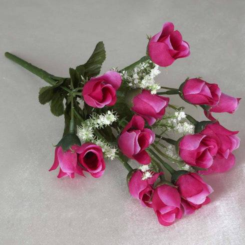 Mini Rose Buds-Fushia-180/pk