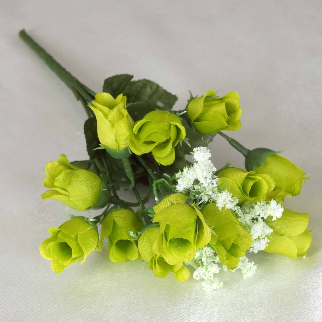 Mini Rose Buds-Lime-180/pk