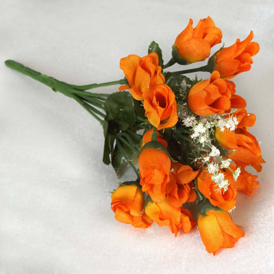 Mini Rose Buds-Orange-180/pk