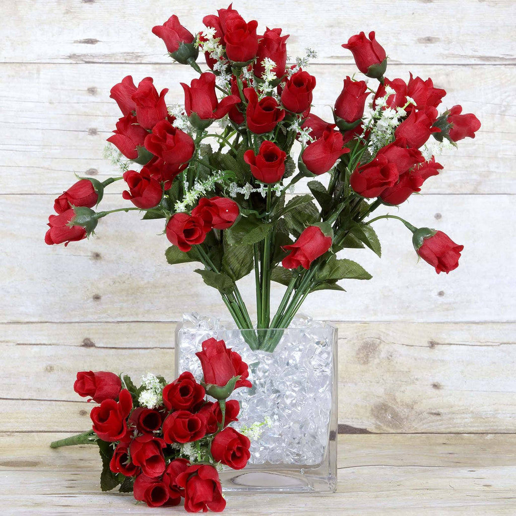 Mini rose buds red pk efavormart