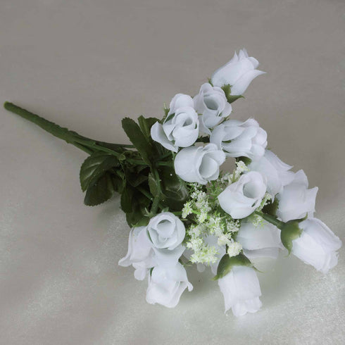 Mini Rose Buds-White-180/pk