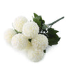"4 Bushes - 16"" Ivory Artificial Silk Chrysanthemum Flowers - 28 Artificial Mums"