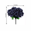 12 Bush 84 pcs Navy Blue Artificial Silk Chrysanthemum Flowers