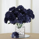 84 Artificial Silk Chrysanthemum Flower Bush - Navy Blue