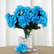 84 Artificial Silk Chrysanthemum Flower Bush - Turquoise