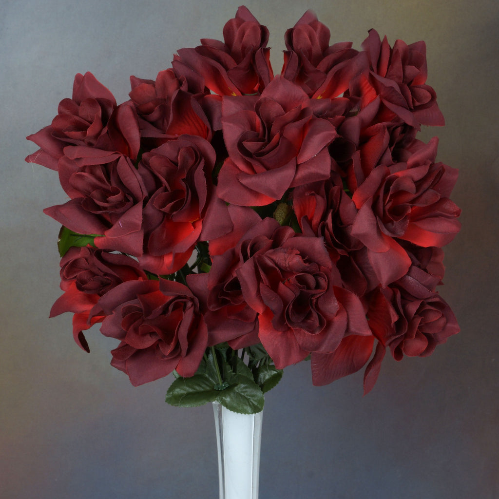 Velvet Bloom Roses-Black/Red-168/pk