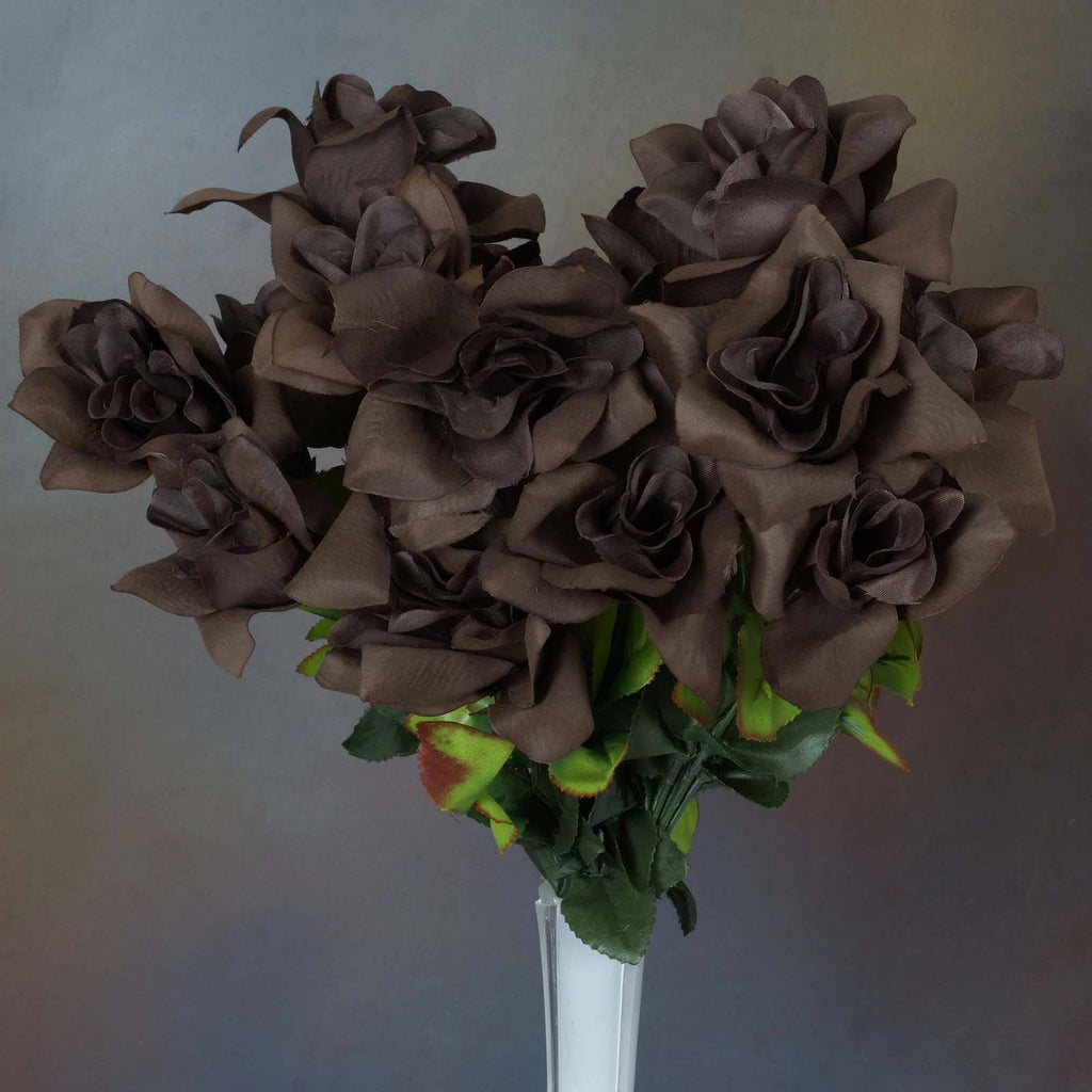 Velvet Bloom Roses-Chocolate-168/pk