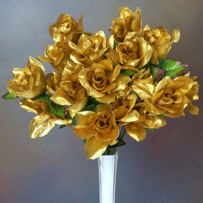 Velvet Bloom Roses-Gold-168/pk