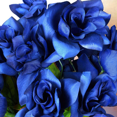 Velvet Bloom Roses-Navy-168/pk