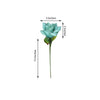 24 Bush 168 Pcs Turquoise Artificial Bloom Roses Flowers