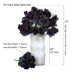 12 Bush 84 pcs Lavenedr Artificial organza Rose Bud Flowers
