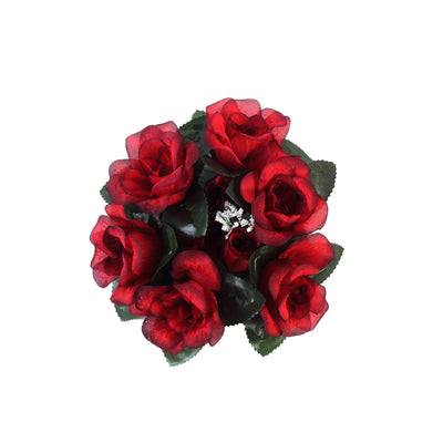8 pack blackred artificial silk rose floral candle rings efavormart candle ring blackred 8pk mightylinksfo