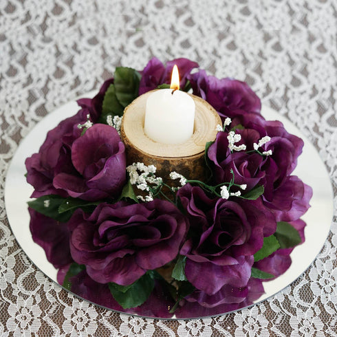 Candle Ring - Eggplant - 8/pk