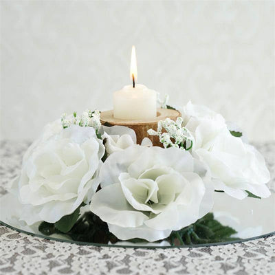 Candle Ring-Ivory - 8/pk