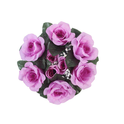 4 Pack Lavender Artificial Silk Rose Floral Candle Rings