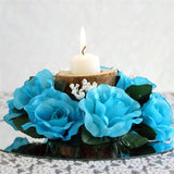 Candle Ring-Turquoise - 8/pk