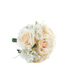 2 Pack | Cream Rose & Hydrangea Artificial Silk Flowers Bouquet