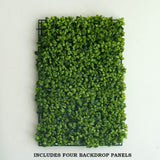4 Pcs Artificial Faux Boxwood UV Protected Wall Mat Backdrop Photography Panel Photo Booth Garden Home Event